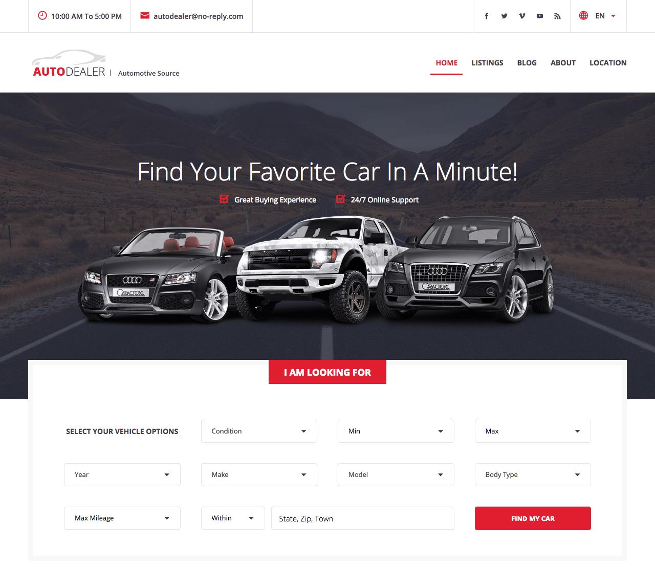 WordPress Auto Listings Plugin - A Car Sales Plugin