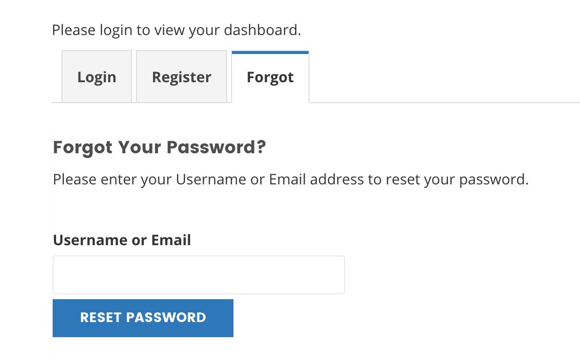 frontend forgot password