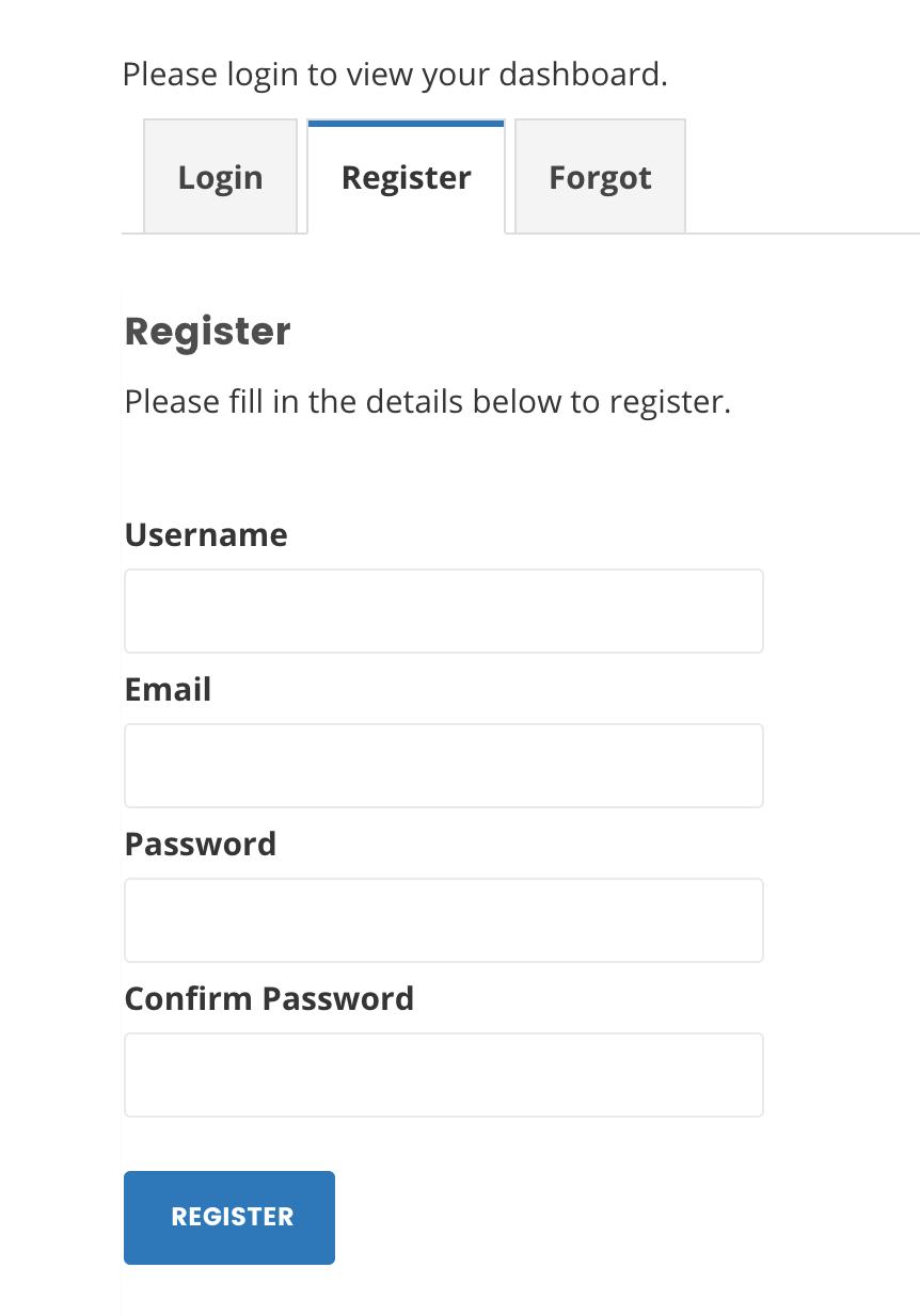 frontend register