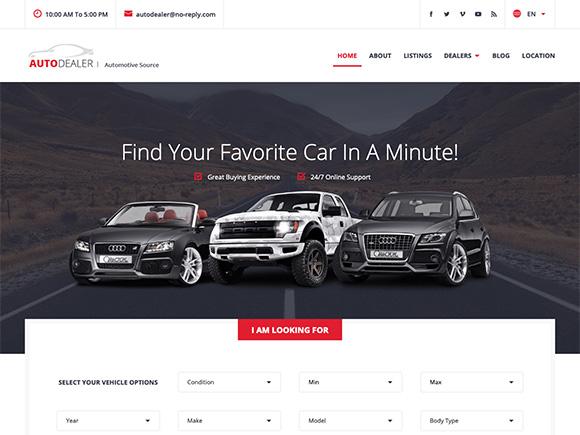 Car Listings WordPress Theme